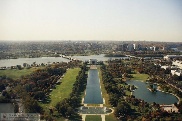 Lincoln Memorial from the Washington Monument - 1991