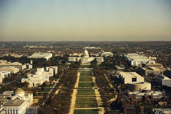 U.S. Capitol Building from the Top of the Washington Monument - 1991