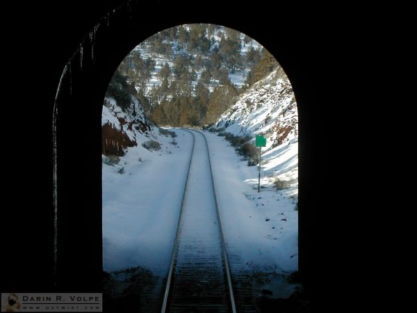 Looking out a tunnel from the Coast Starlight - 2005