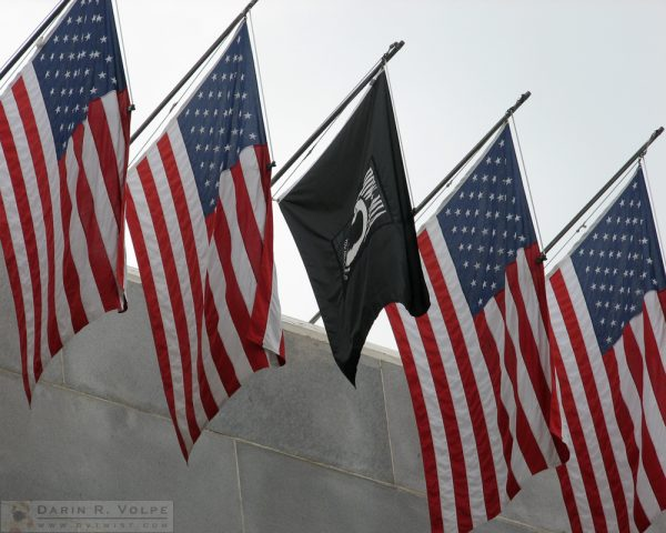 """Red White and Blue, and Black"" [POW-MIA Flag at City Hall at Los Angeles, California]"