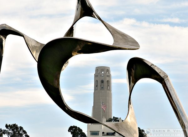 """Million Dollar View"" [Coit Tower Through Skygate Sculpture in San Francisco, California]"