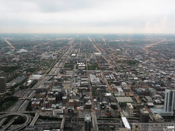 Looking west from the Sears Tower observation deck