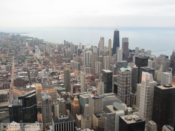 Looking north from the Sears Tower observation deck