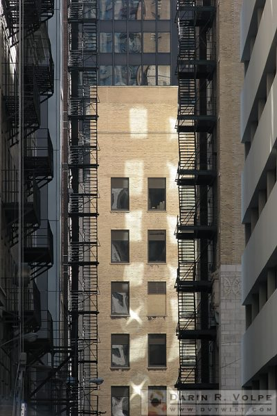 """Escape Routes"" [Alley with Fire Escapes at Chicago, Illinois]"