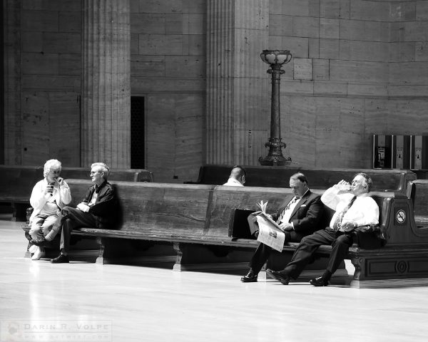 """Waiting for a Train"" [Passengers Waiting in Union Station in Chicago, Illinois]"