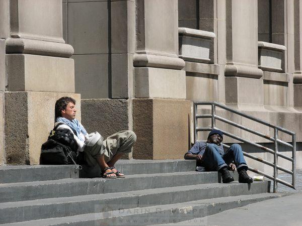 """Two Naps At Union Station"" [Chicago, Illinois]"