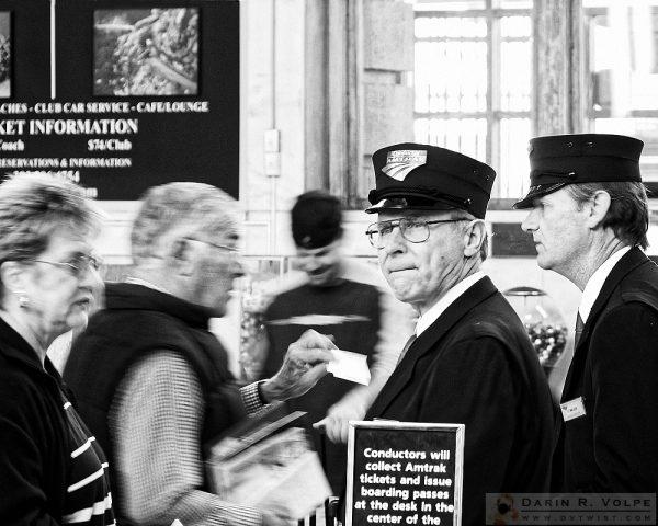 """Tickets Please"" [Railroad Conductor in Portland, Oregon]"