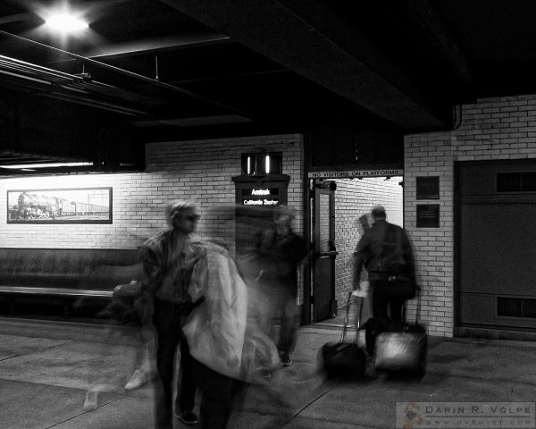 """All Aboard!"" [Railway Passengers in Union Station, Denver, Colorado]"
