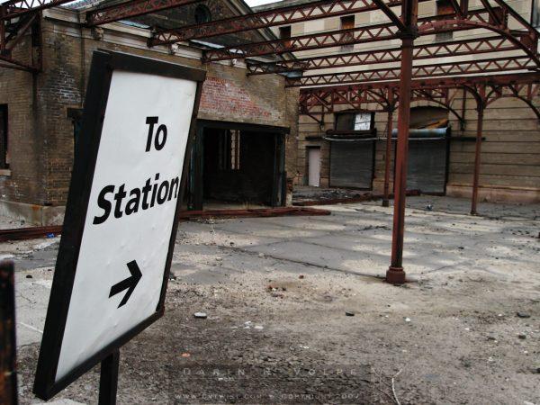 """To Station"" [Burlington Train Station In Omaha, Nebraska]"