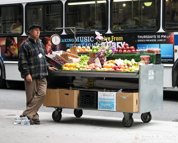 """Street Orchard"" [Street Vendor in New York City, New York]"