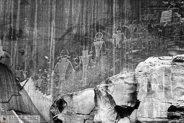 """Ancient Aliens"" [Petroglyphs in Capitol Reef National Park, Utah]"