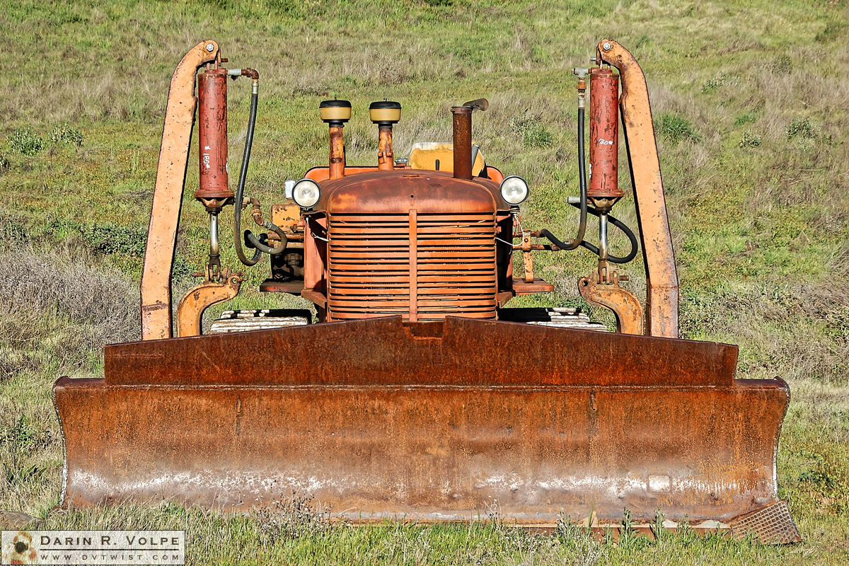 """Bug-Eyed"" [Abandoned Tractor in Alameda County, California]"