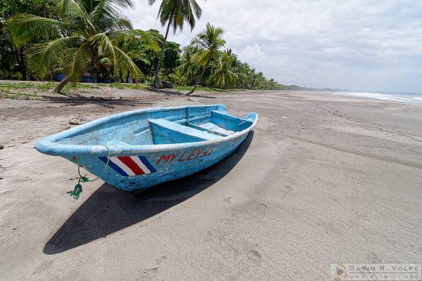 Boat on the beach near Jaco, Costa Rica.