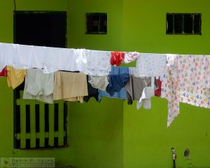 Laundry hanging in Jaco, Costa Rica.