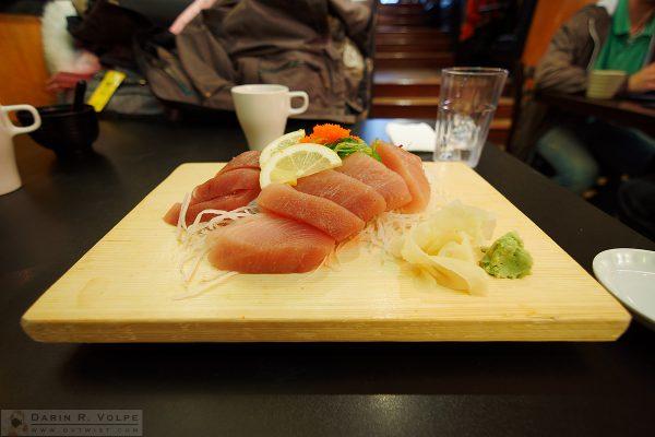 Sushi Plate at Mo Mo Sushi, Vancouver, BC.