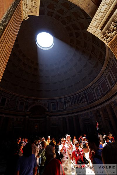 """In the Spotlight"" [Tourists at The Pantheon in Rome, Italy]"