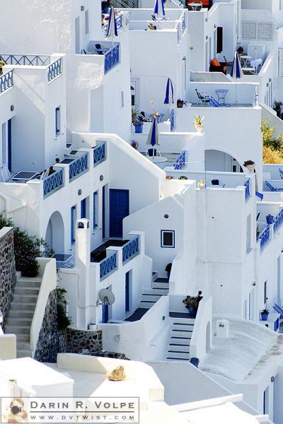 """Building Blocks"" [Greek Homes in Fira, Santorini, Greece]"