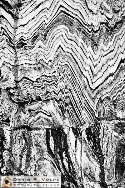 """Pressure Waves"" [Folded Metamorphic Rock in Kings Canyon National Park, California]"