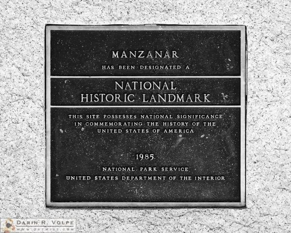 """National Disgrace"" [Plaque at Manzanar National Historic Landmark, California]"