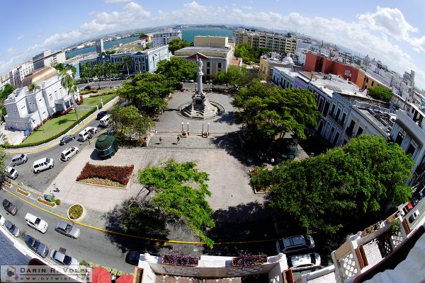 """Eye on Old San Juan"" [Plaza de Colon in San Juan, Puerto Rico]"
