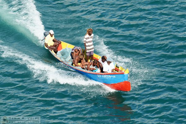 """Sea Hunters"" [Fishermen on a Boat in Castries, St. Lucia]"