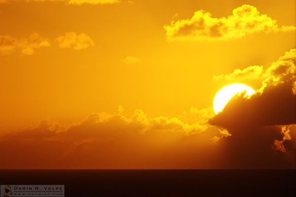 """Sailing Into the Sunset"" [Sunset on the Caribbean Sea ]"