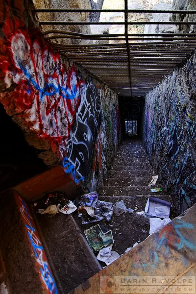 """Dungeon Staircase"" [Abandoned Zoo in Griffith Park, Los Angeles, California]"