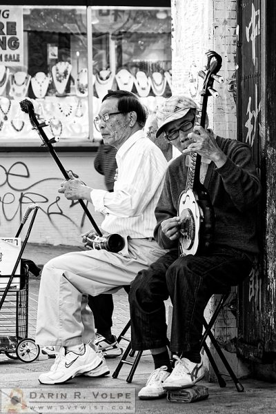 """Chinese Folk"" [Chinatown Street Musicians in San Francisco, California]"