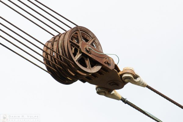 """No Rest for the Weary"" [Abandoned Crane Cables and Pulley in Alameda, California]"