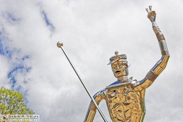 """Tin Man's Rod"" [Chrome Statue in Garland Valley, New South Wales]"