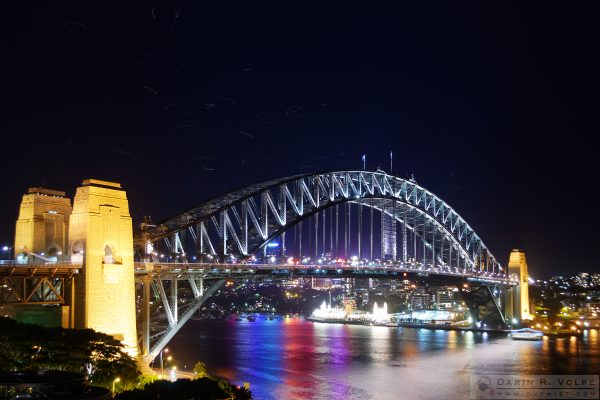 """Unidentified Flying Objects"" [Gulls over Sydney Harbour Bridge in Sydney, New South Wales]"