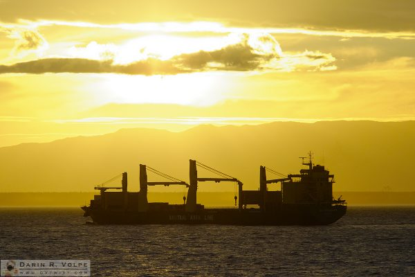 """Goodbye, Tauranga"" [AAL Brisbane Cargo Ship near Tauranga, New Zealand]"