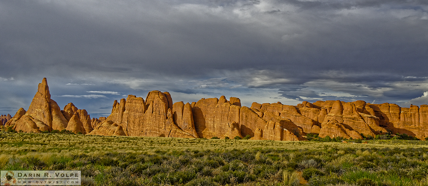 """Stone Skyline"" [Sandstone Rock Formations in Arches National Park, Utah]"