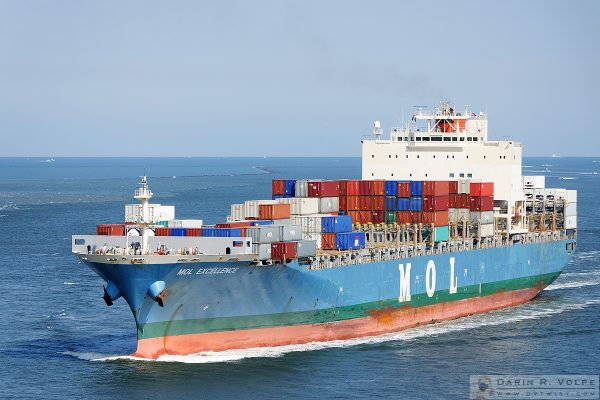 """Excellence"" [Container Ship near Charleston, South Carolina]"