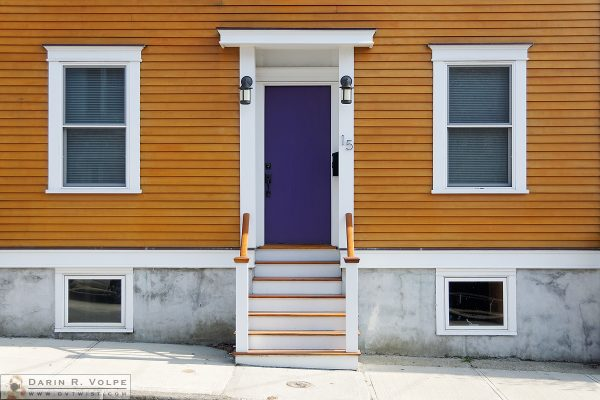 """Door Number 15"" [Front Door and Windows on a Colonial Home in Newport, Rhode Island]"
