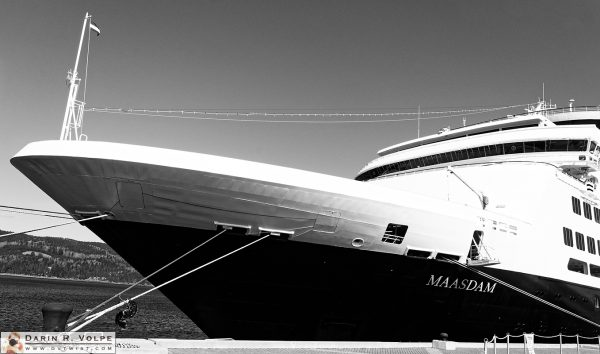 """Maasdam"" [Holland America Cruise Ship in Saguenay, Quebec]"