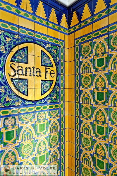 """Santa Fe"" [Talavera Tile at the Santa Fe Depot in San Diego, California]"