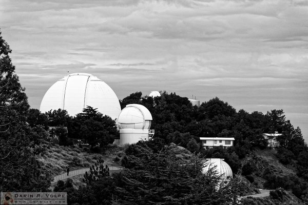 """Skywatchers"" [Telescope Domes at Lick Observatory near San Jose, California]"
