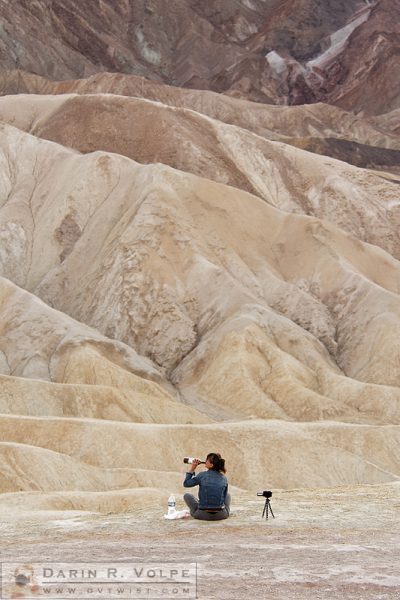 """Getting Toasted in the Desert"" [Woman Drinking Wine in Death Valley National Park, California]"