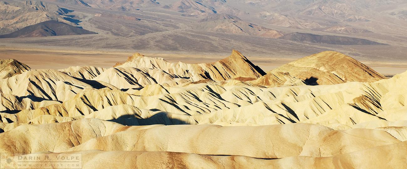 """""""Sunrise at Zabriskie Point"""" [Amargosa Mountains in Death Valley National Park, California]"""