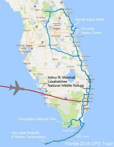 Path of 2016 Florida Trip