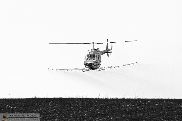 """Air Raid"" [Cropduster Helicopter in Templeton, California]"