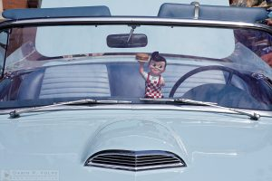 """Cruisin' with Bob"" [1957 Ford Thunderbird and Big Boy at Paso Robles Classic Car Show, California]"