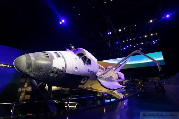 """Beautiful Vehicle"" [Space Shuttle Atlantis in Kennedy Space Center, Florida]"