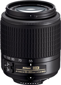 Nikkor 55-200mm Zoom Lens