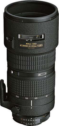 Nikkor 80-200mm AFD Zoom Lens