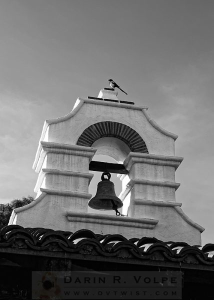 """For Whom The Bell Tolls"" [Magpie On Mission Bell Tower In Jolon, California]"