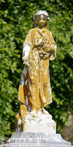 """Grave Girl"" [Memorial Statue in Lompoc Evergreen Cemetery, California]"