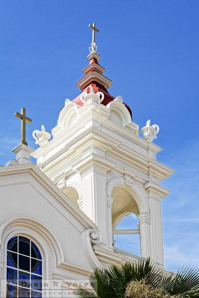 """Five Wounds Church"" [Portuguese National Church Bell Tower in San Jose, California]"