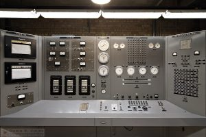 """The Atomic Age"" [EBR-1 Nuclear Reactor Control Panel in Arco, Idaho]"